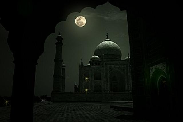 Image result for see taj mahal in Moonlight night like this