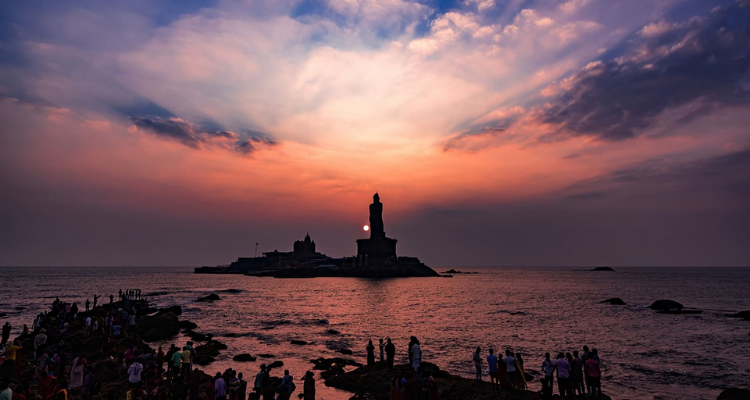 This image has an empty alt attribute; its file name is Kanyakumari-Sunset.png
