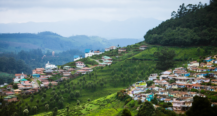 The Beautiful CityScape on Nilgiri Mountains