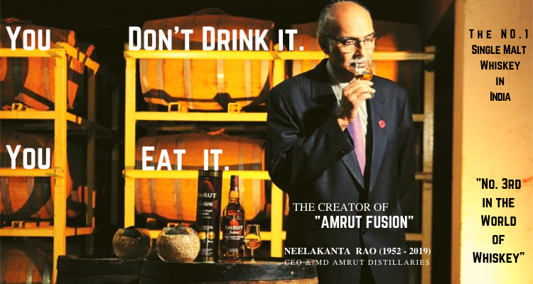 The Best Single Malt Whiskey in India - Amrut Fusion