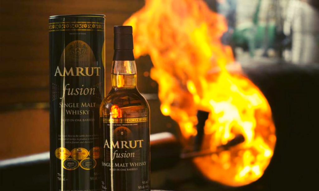 "Amrut Fusion won the ""World Whisky of the Year"" award at the 2019 Bartenders Spirits Awards"