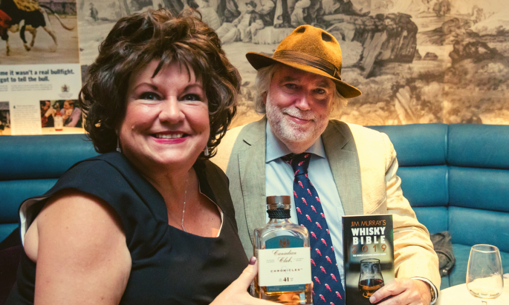 Jim Murrey, the Whiskey Man with a friend during the promotion of his Whiskey Bible