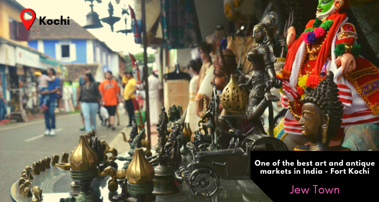 Jew Town of Fort Kochi in Kochi in India is the best place to shop for antique lovers