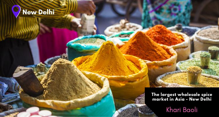The largest wholesale spice market in Asia - Khari Baoli in Old Delhi