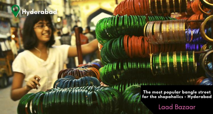 The Bangle Street or Laad Bazaar near Charmminar in Hyderabad