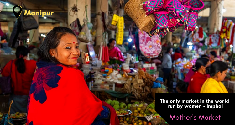 Ima Market or Mother's Market of Imphal, Manipur