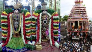 Pic of Srivilliputhur Andal with her consort lord Rangamannar and the grand chariot festival during Adipooram