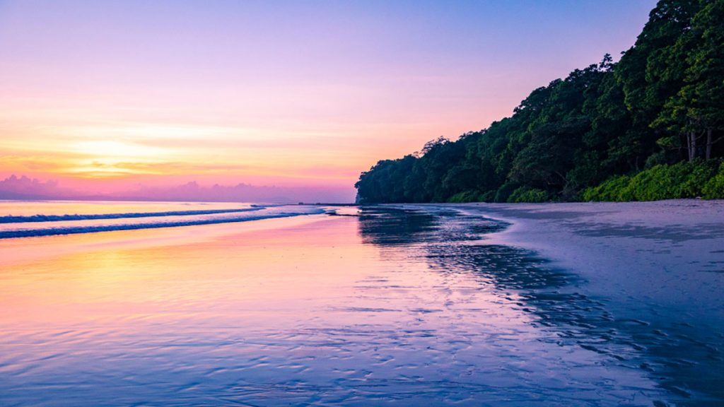 A beautiful sunset from Radhanagar beach in Havelock Island