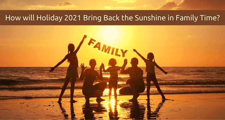 Dad Mother Children Enjoying Sunset in Beach