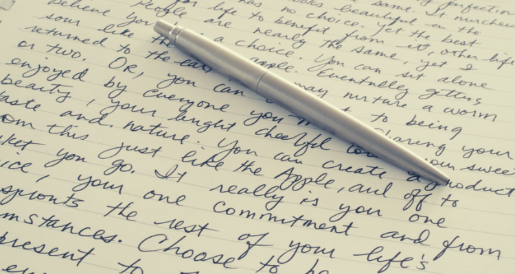 The power of writing what comes to the mind.