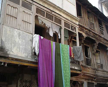 Ahmedabad old city washing & drying