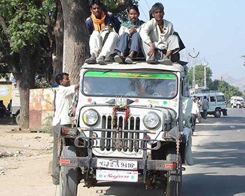Typical transport mode for locals in India