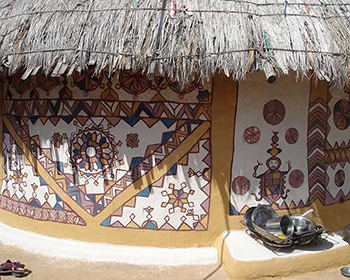Traditional Village Painted Hut