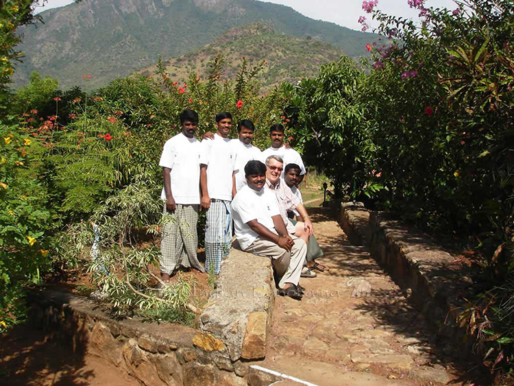 Tamil Nadu - Chris and his Team at Cardamom House, Dindigul