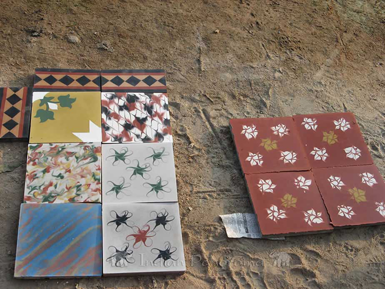 Some Handpainted Tiles