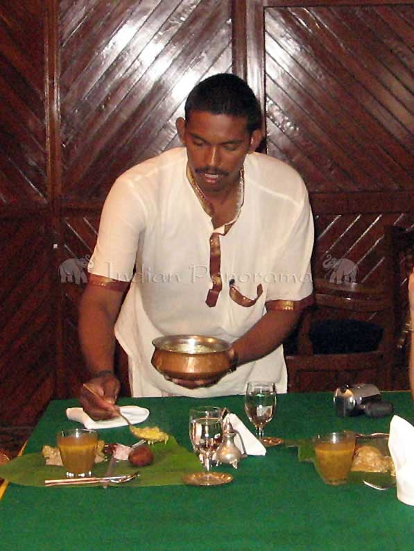 Serving Traditional Tali Meal