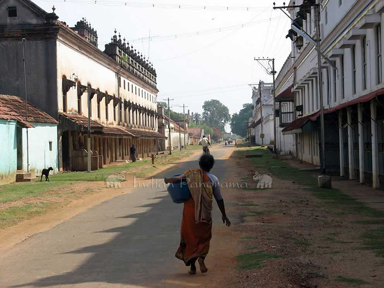 Street Scene In Chettinad