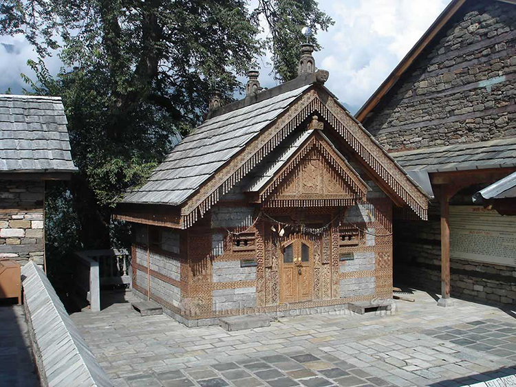 Temple at Naggar Castle near Manali