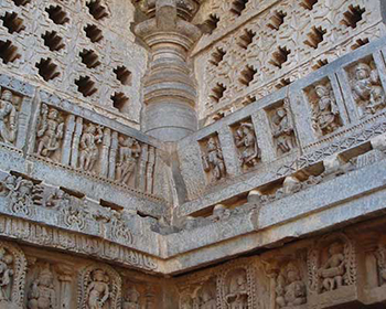 Intricate carving, Halebidu Temple