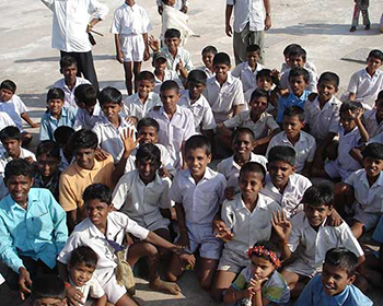 Schoolkids At Hampi