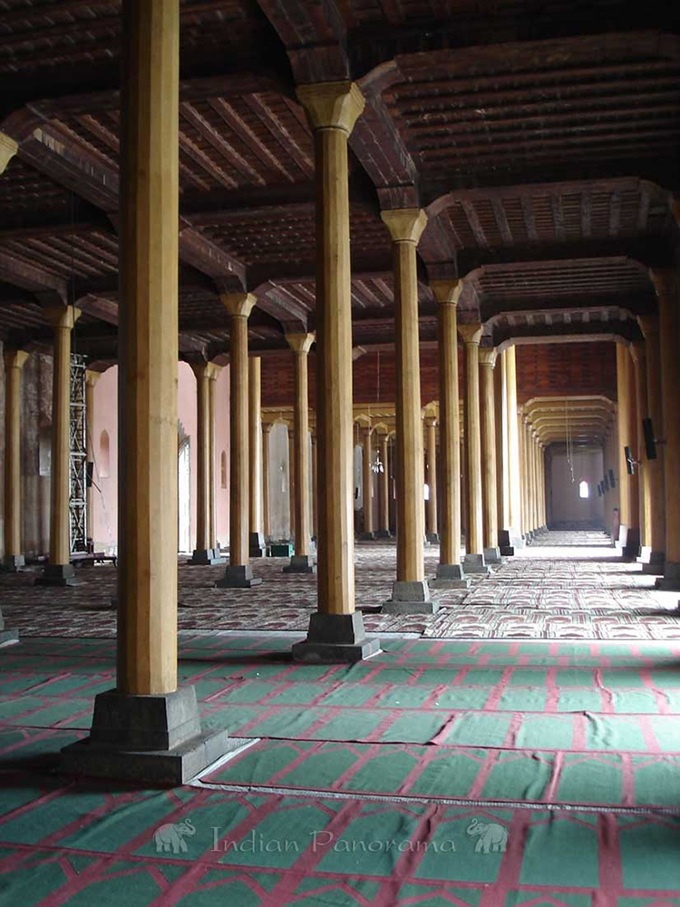 Prayer Mats In Jama Masjid Mosque, Srinagar