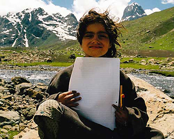 Schoolchild In Kashmir Mountains