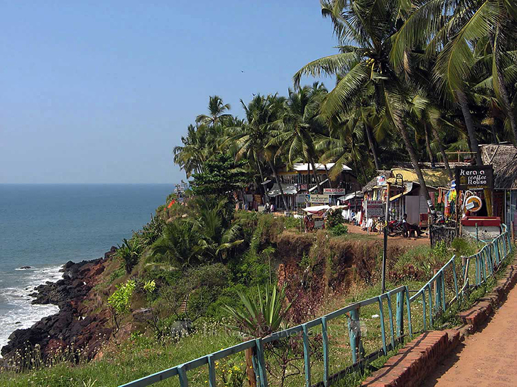 Varkala Clifftop Cafes And Market Shops