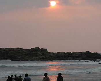 Kovalam Beach At Sunset