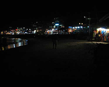 Kovalam Beach At Night