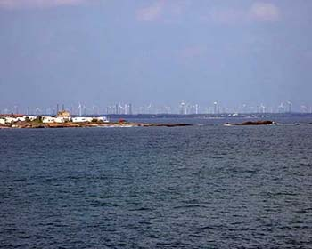 Kanyakumari - views out to the windfarm