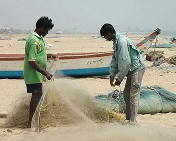 Fishermen at Mahabalipuram