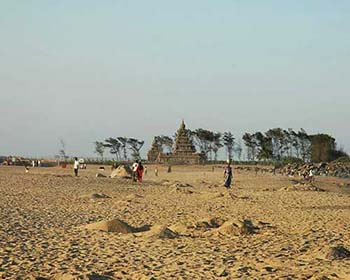 View Of The 7th Century Shore Temple At Mahabalipuram