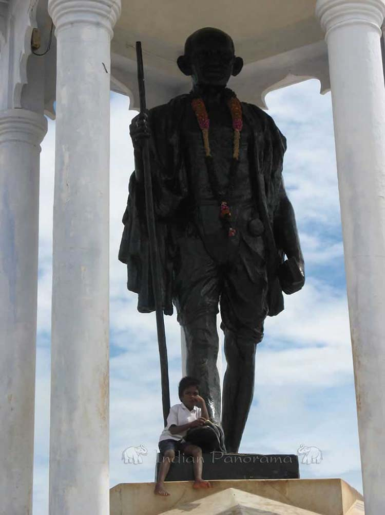 Beachfront Gandhi Statue, Pondicherry