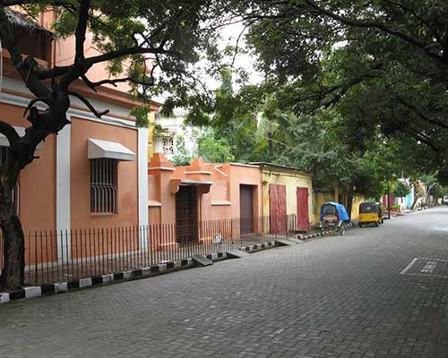 Typical Street Scene In Pondicherry