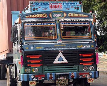 Colourful Truck In Rajasthan