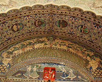 Ornate Fresco, City Palace, Karauli