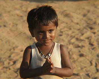 Rajasthani Child Near Osian