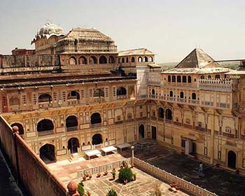 View Of Central Court, City Palace, Karauli
