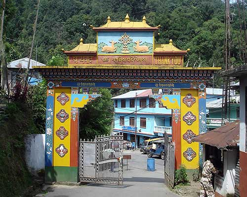 Main Entrance Gate To Gompa (Monastery)