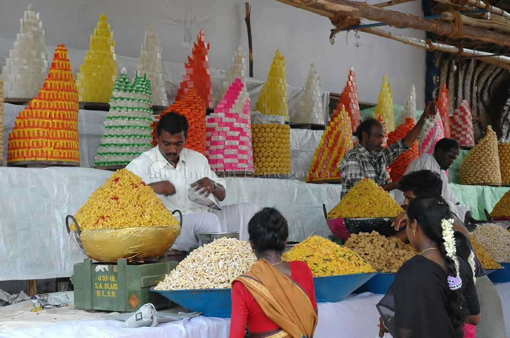 Sweets For Sale In A Local Market