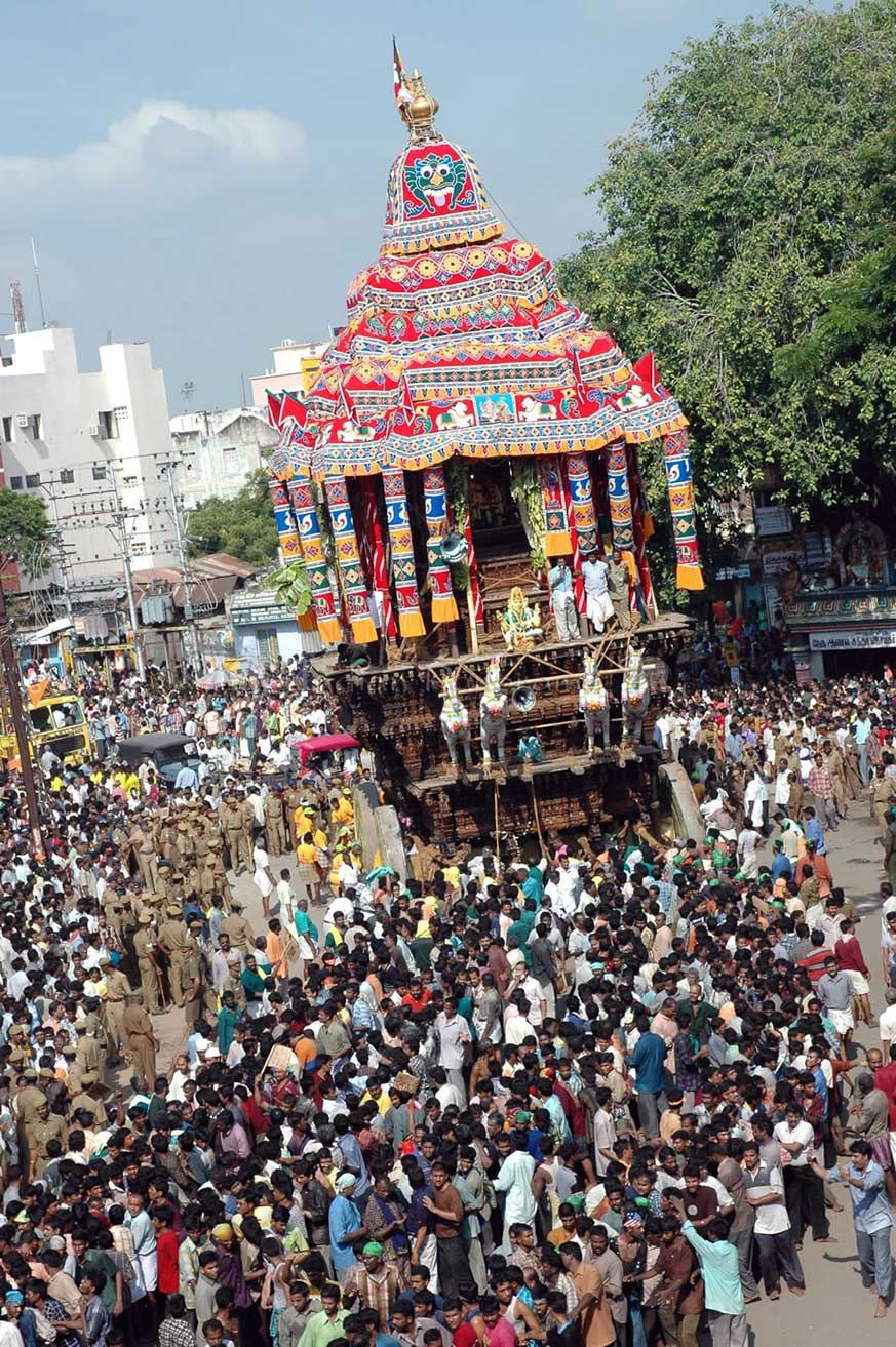 Temple Chariot Procession In Madurai