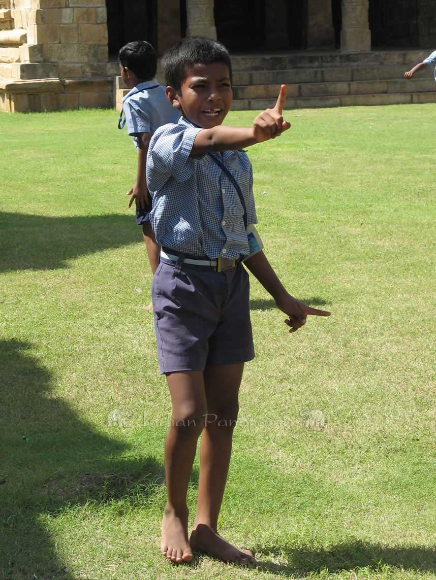 School Kids Playing Cricket