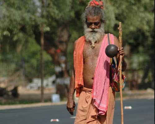A Saddhu On The Road