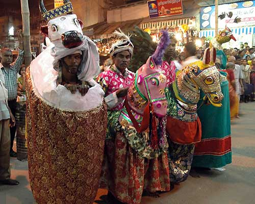 Devotees Dressed Up For Festival