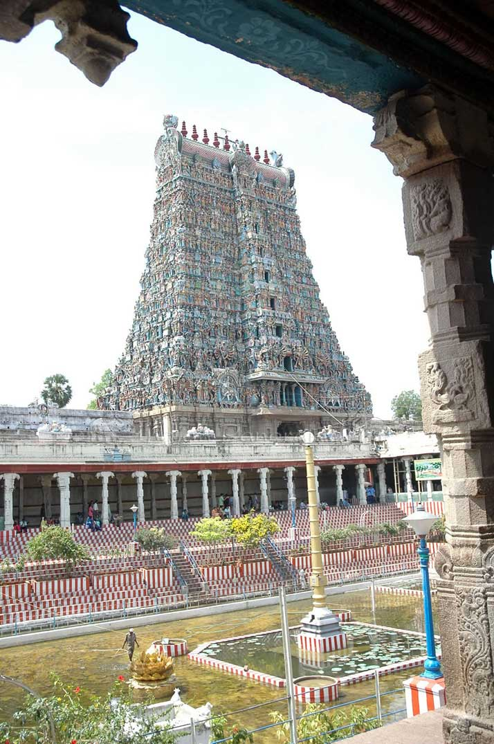 Madurai Meenakshi Temple Central Lotus Tank
