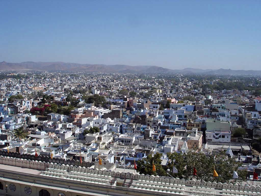 Views of Udaipur from City Palace