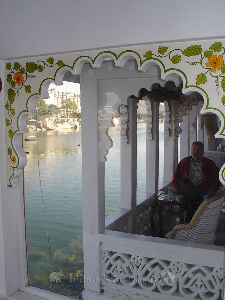 View from a hotel, in Lake Pichola