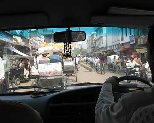 Views From The Car In Varanasi