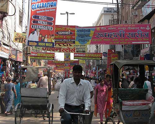 Rickshaws in the city of Varanasi