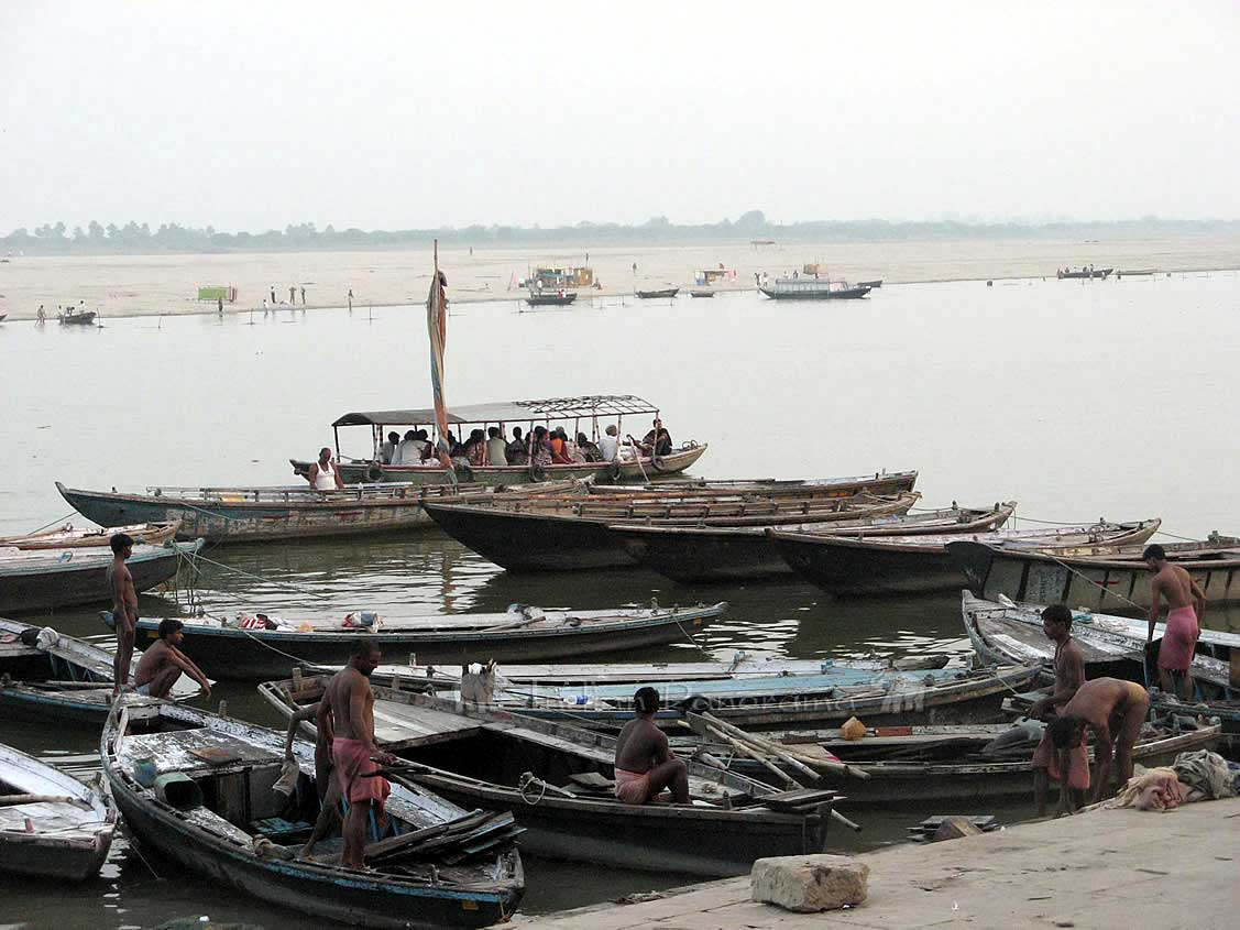 Boats On The River Ganges
